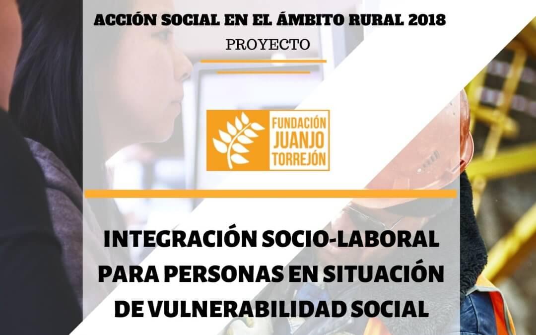 Proyecto Integración Socio-laboral en Colmenar de Oreja